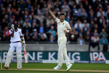 James Anderson England v West Indies - 1st Investec Test: Day Two