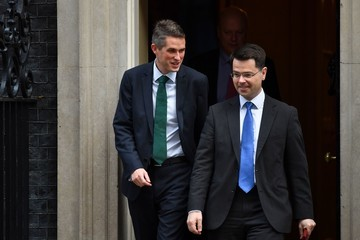 James Brokenshire Chancellor Leaves Downing Street for Budget Speech