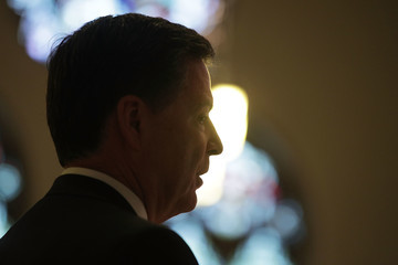 James Comey Annual Blue Mass Held in Support of Law Enforcement Officers and First Responders at St. Patrick's