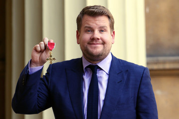 James Corden Investiture at Buckingham Palace