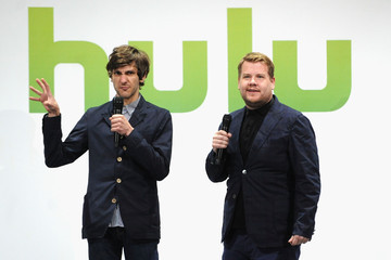 James Corden Celebs at the Hulu Upfront Event in NYC 2