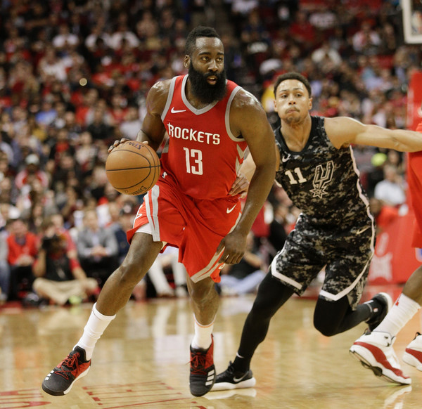 df4f32037a0 James Harden and Bryn Forbes Photos Photos - San Antonio Spurs Vs ...