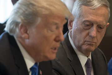 James Mattis U.S. President Donald Trump Holds a Cabinet Meeting in the Cabinet Room at the White House