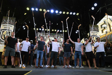 James Neal Erik Haula Vegas Golden Knights Host Stick Salute To Vegas And Our Fans Event