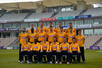 James Vince Jimmy Adams Hampshire CCC Photo Call