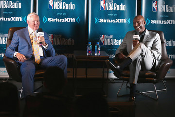 James Worthy NBA Legend Jerry West Sits Down For SiriusXM Town Hall At The L.A. Forum, Hosted By James Worthy