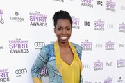 "Actress Adepero Oduye with Jameson prior to the 2012 Film Independent Spirit Awards at Santa Monica Pier on February 25, 2012 in Santa Monica, California. As a third-year Premier Sponsor, Jameson Irish Whiskey welcomed guests on the red carpet, as well as at their Jameson Backstage Lounge. Jameson, a proud supporter of Film Independent, also provides $40,000 ""FIND Your Audience"" grant to aspiring film-makers."