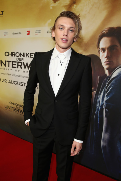 Jamie Campbell Bower Jamie Campbell Bower arrives for the 'The Mortal Instruments: City of Bones' (Chroniken der Unterwelt) Germany premiere at Sony Centre on August 20, 2013 in Berlin, Germany.