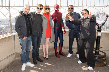 Jamie Foxx Emma Stone 'The Amazing Spider-Man 2' Lights the Empire State Building