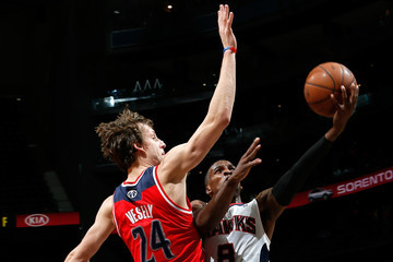Jan Vesely Washington Wizards v Atlanta Hawks