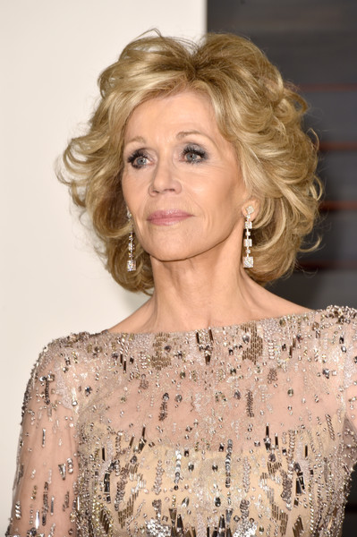 Jane Fonda - 2015 Vanity Fair Oscar Party Hosted By Graydon Carter - Arrivals