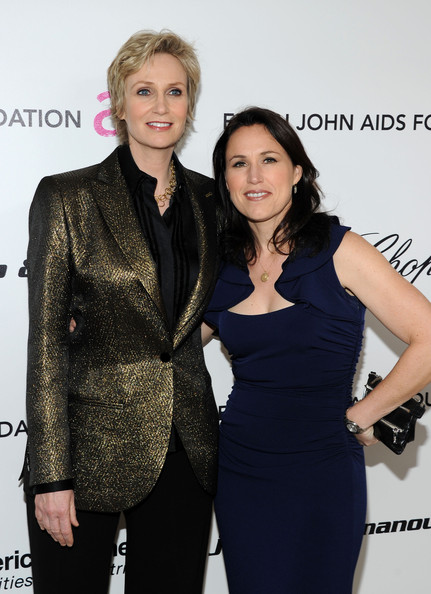 Jane Lynch with cute, Single