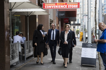 Jane Menelaus Geoffrey Rush Attends Court As Defamation Trial Against Daily Telegraph Continues