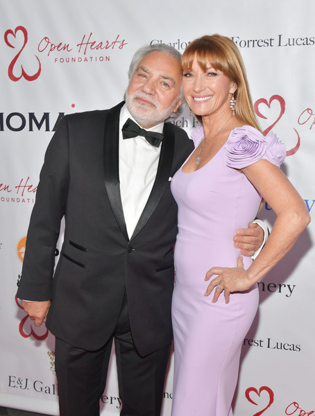 Jane Seymour And The Open Hearts Foundation's 2019 Open Hearts Gala  - Arrivals [suit,hairstyle,formal wear,fashion,tuxedo,event,premiere,dress,carpet,style,arrivals,jane seymour,david green,beverly hills,california,sls hotel,the open hearts foundation,2019 open hearts gala]