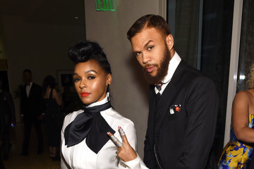 Janelle Monae Jidenna 2016 Pre-GRAMMY Gala And Salute to Industry Icons Honoring Irving Azoff - Backstage And Audience