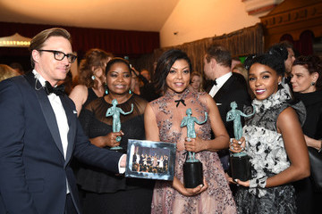 Janelle Monae Octavia Spencer The 23rd Annual Screen Actors Guild Awards - Media Complex