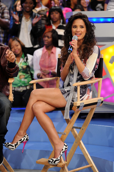 Rocsi BET VJ Rocsi on BET's 106 & Park at BET Studios on March 31, 2010 in New York City.