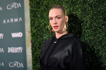 January Jones Council of Fashion Designers of America, Variety and WWD Host Runway to Red Carpet - Arrivals