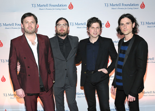 11th Annual T.J. Martell Foundation Nashville Honors Gala [event,premiere,suit,white-collar worker,carpet,award,nathan followill,caleb followill,jared followill,matthew followill,t.j.,omni hotel,nashville,tennessee,kings of leon,martell foundation nashville honors gala]