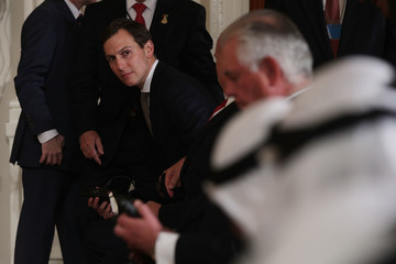 Jared Kushner Trump Holds Joint News Conference With the Amir of Kuwait