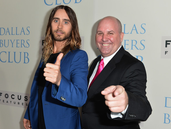 'Dallas Buyers Club' Premieres in Beverly Hills — Part 2 [dallas buyers club,event,award,premiere,gesture,businessperson,white-collar worker,arrivals,actors,jared leto,james dumont,california,focus features,academy of motion picture arts and sciences,premiere,premiere]