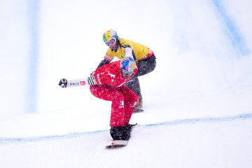 Jarryd Hughes FIS Freestyle Ski World Cup - Men's and Women's Snowboardcross