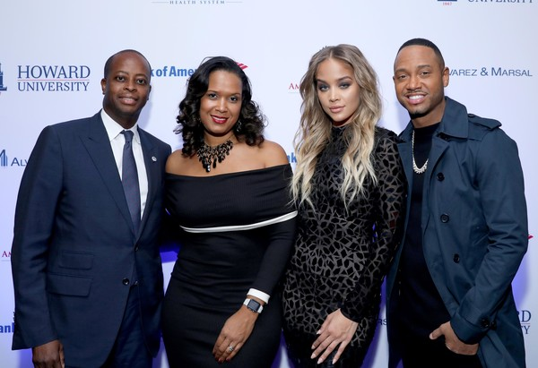 Howard University & La La Anthony Pre-Grammy Party [event,fashion,premiere,photography,award,fashion design,performance,president,simone frederick,frederick,jasmine sanders,wayne a.i.,terrence j,l-r,new york city,howard university,la la anthony pre-grammy party]