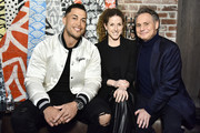 (L-R) Giancarlo Stanton, guest and Jason Binn attend Jason Binn And DuJour Media Celebrate April Cover Star Giancarlo Stanton At TAO Downtown on March 26, 2019 in New York City.