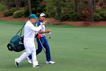 Jason Day Colin Swatton The Masters - Round One