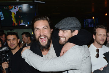 Jason Momoa Stars at the NFL Playoff Party in Park City