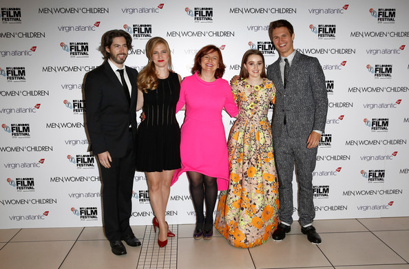 'Men, Women & Children' Premieres in London [fashion,event,fashion design,red carpet,premiere,carpet,award,flooring,formal wear,style,vip arrivals,jason reitman,helen estabrook,clare stewart,actors,kaitlyn dever,ansel elgort,london,men women children premieres,festival]