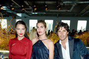 Adriana Lima, Delfina Blaquier, and Nacho Figueras attend the Jason Wu Collection front row during New York Fashion Week: The Shows at Pier 17 on September 08, 2019 in New York City.
