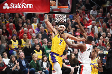 Javale Mcgee Los Angeles Lakers vs. Portland Trail Blazers