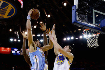 Javale Mcgee Klay Thompson Denver Nuggets v Golden State Warriors - Game Three