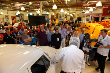 Jay Leno Shell Event At Jay Leno's Big Dog Productions Car Warehouse