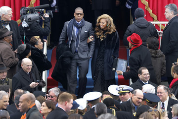Jay-Z Beyonce Knowles Barack Obama Sworn In As U.S. President For A Second Term