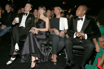 Jay-Z Justin Timberlake The 55th Annual GRAMMY Awards - Backstage And Audience