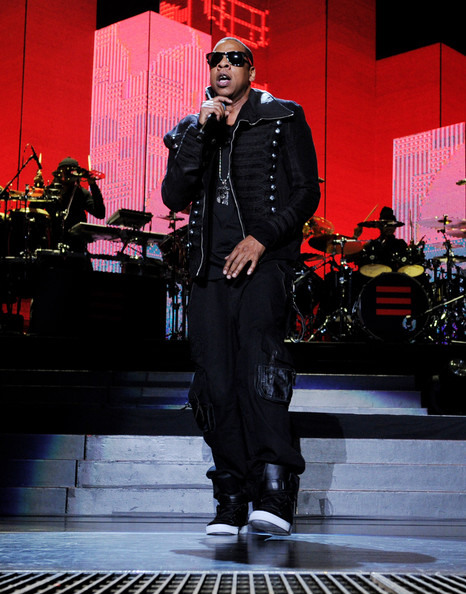 Rapper Jay-Z performs at the Staples Center on March 26, 2010 in Los Angeles, California.