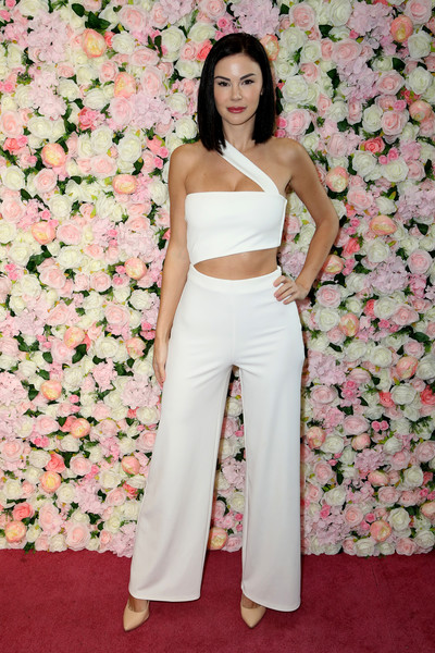 Baes And Bikinis Los Angeles Launch  Party [clothing,white,pink,dress,crop top,fashion model,shoulder,beauty,fashion,waist,bikinis,baes,jayde nicole,baes and bikinis,catch la,los angeles,west hollywood,california,launch party]