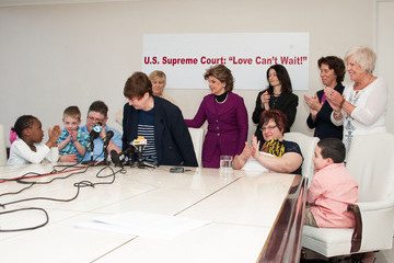 Jayne Rowse Gloria Allred DeBoer V. Snyder Marriage Equality Issue News Conference
