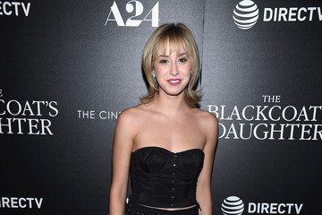 Jazmin Grimaldi A24 and DirecTV With the Cinema Society Host a Screening of 'The Blackcoat's Daughter' - Arrivals