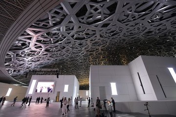 Jean Nouvel French President Emmanuel Macron Inaugurates the Louvre Abu Dhabi Museum