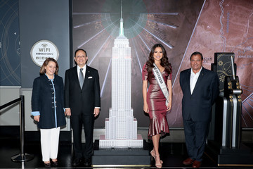 Jean-Yves Ghazi Miss Universe Andrea Meza And Consul General Of Mexico In New York To Light The Empire State Building For Mexican Independence Day