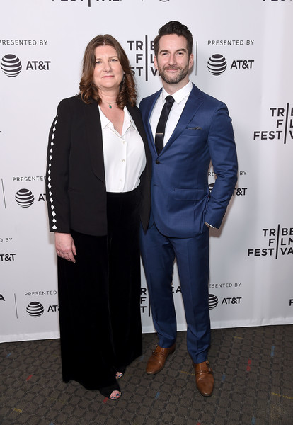'After Parkland' - 2019 Tribeca Film Festival [jeanmarie condon,steven baker,suit,formal wear,event,tuxedo,white-collar worker,pantsuit,premiere,carpet,award,business,parkland,new york city,sva theater,tribeca film festival,screening]