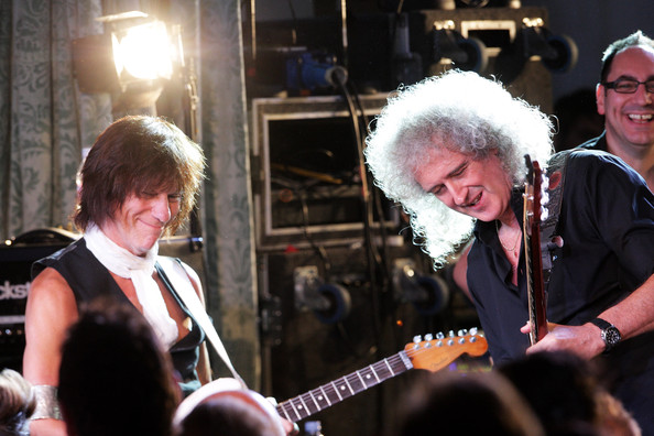 Brian May and Jeff Beck - Freddie For A Day - 65th Birthday Anniversary - Party