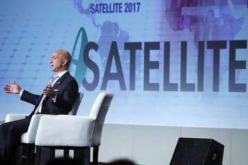 Jeff Bezos Amazon CEO And Founder Of Blue Origin Jeff Bezos Speaks At Satellite Industry Conference