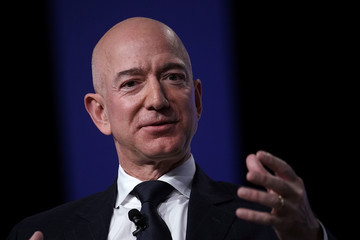 Jeff Bezos Amazon CEO And Blue Origin Founder Jeff Bezos  Speaks At Air Force Association Air, Space And Cyber Conference