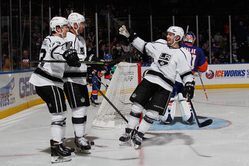 Jeff Carter Tyler Toffoli Los Angeles Kings v New York Islanders