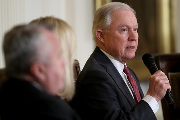 Jeff Sessions President Trump Delivers Remarks At White House Opioid Summit