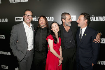 Jeffrey Dean Morgan Andrew Lincoln 'The Walking Dead' Premiere And After Party